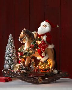 Santa on Lighted Rocking Horse ~ Gorgeous, but I'm not sure WHO would pay $525.00 for it... WOW!
