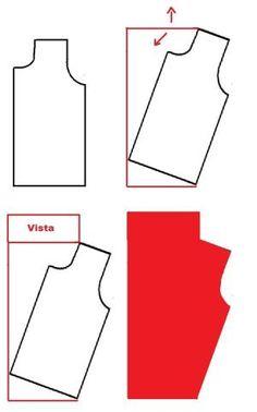 pdf pattern cowl neck shirt free - Google Search