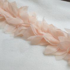 Lace Trim Lace Fabric Pink Leaves Chiffon Flower DIY by lacediy