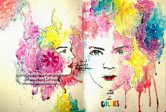 """Scrapbook Centrale: journal d'artiste """"and I see colors"""" art journaling"""