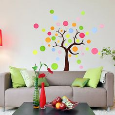 FOR MY PLAY ROOM!  Polka Dots tree   Vinyl Art Wall Decal  Living Room by cosco, $28.00