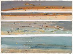 """Fred Williams """"Distilled the Australian landscape with a touch of Japan."""" KB - nizy for new year Impressionist Landscape, Abstract Landscape, Landscape Paintings, Japan Landscape, Abstract Paintings, Australian Painting, Australian Artists, Fred Williams, Beach Scenes"""