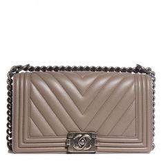 Chanel Le Boy bag  Chevron Taupe  Love at first sight