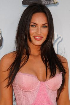 Megan Fox in a pink dress