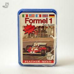 Vintage PIATNIK WIEN 4229 Formel 1 Spielkarten Quartett 32 Karten Rennwagen in Spielzeug, Spiele, Kartenspiele, Sonstige | eBay