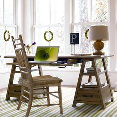 Paula Deen Down Home Saw Horse Work Table - Oatmeal - Computer Desks at Hayneedle