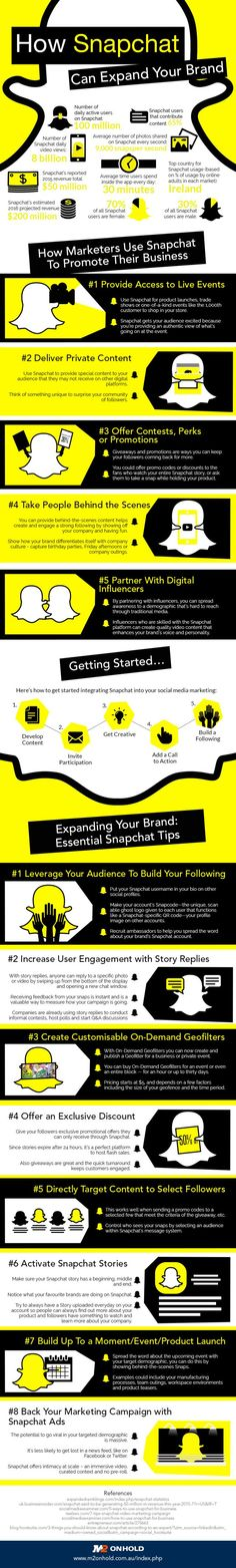 Snapchat Marketing for Beginners: 13 Tips to Promote Your Business #Infographic