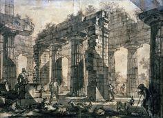 Bild:   Piranesi - Paestum, Poseidontempel