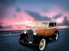 #LOVE My Facebook page: https://www.facebook.com/MrOgdenGeorge/  #GeorgeOgden This sunset begins one of our summers' nights in Florida. I saw this 58 Ford classic at a car show and added it to this beach sunset. They seem to fit!