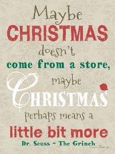 Image result for christmas doesn't come from a store quote