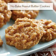 No Bake P Nut Butter Cookies