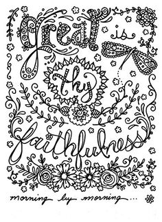 Hymn-spirations Adult Coloring Book for Christian Faith