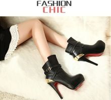 Dropshipping New Arrival Very Good Quality Women Fashion High Heel Platform Boots Sexy Lady Pumps EUR35-39 Black ONLY S0055-2(China (Mainland))