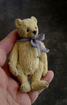Sweets Miniature 3 3/4 Collectible Artist Bear by aerlinnbears