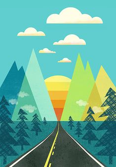 The Long Road Print by automatte
