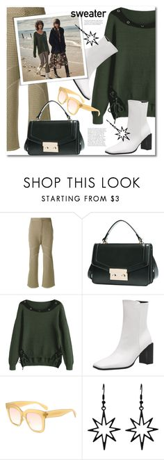 """""""Green sweater"""" by gamiss ❤ liked on Polyvore featuring Marni, H&M, casual, Sweater, zaful and gamiss"""
