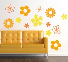 Flower Pack Wall Decals from Trading Phrases - Nice selection of decals.
