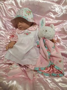 Lillie Beth, reborn baby doll, in vintage Carter's Garden Party outfit