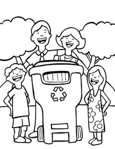free earth day coloring page for children lets recycle - Recycling Coloring Pages Kids