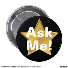 Gold Star Ask Me Text Button