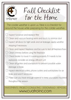 1000 images about season maintenance tips and checklists on pinterest fall checklist diy. Black Bedroom Furniture Sets. Home Design Ideas