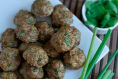 Asian-style Meatballs--We doubled the recipe and tried half beef/half pork. Will definitely be making them again.