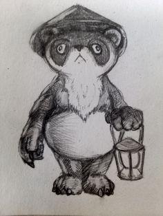 panda-china-hat #panda #chinahat #sketch #draw #art #pencil by Kuuvalas