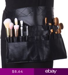 Beauty & Health Makeup Tools & Accessories Self-Conscious High Quality Pvc Professional Cosmetic Makeup Brush Apron Bag With Artist Belt Strap Professional Bag Holder Wholesale