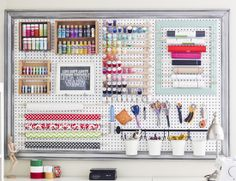 Sewing Room Pegboard System ~ IHeart Organizing