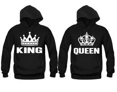 Couples Matching Hoodies King ad Queen White by TeezCustomizer
