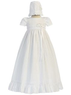 Adorable Baby Clothing - Embroidered Cotton Baby Girl Christening Gown - The Kelly, $68.95 (http://www.adorablebabyclothing.com/embroidered-cotton-baby-girl-christening-gown-the-kelly/)