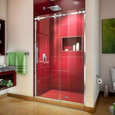 DreamLine Enigma Sky H x to W Frameless Bypass/Sliding Brushed Stainless Steel Bathtub Door at Lowe's. The DreamLine Enigma Sky frameless, sliding shower door or tub door has the ultimate combination of luxury and modern design. Frameless Sliding Shower Doors, Sliding Doors, Shower Enclosure, Shower Tub, Bathtub Doors, Brushed Stainless Steel, Glass Door, At Least, Urban Style