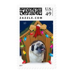 Dog House Christmas Postage