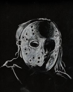 This is based on an image from the remake of Friday the 13th; I did the drawing with some white carol pencils and a black pad. I think this image has come out the best so far…its strange drawi...