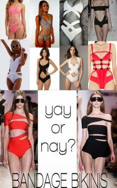 Bandage Bathing Suits: Yay or Nay?