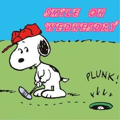Smile on Wednesday - Snoopy Playing Golf
