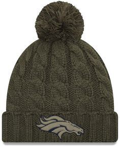 9a824afea33 New Era Women s Denver Broncos Salute To Service Pom Knit Hat Knit Hat For  Men