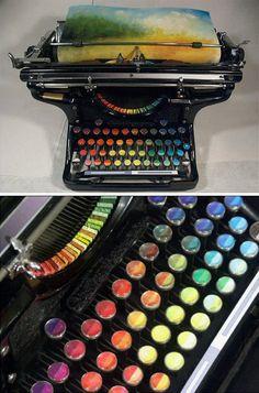 Chromatic Typewriter Prints (concept art)  http://twistedsifter.com/2013/01/chromatic-typewriter-by-tyree-callahan/
