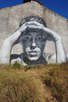 by Mesa (Mesa Delgado), Spanish street artist and muralist from Seville (Cadiz).