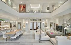 Exquisite modern coastal home in Florida with luminous interiors - - A modern coastal home with square feet of luxurious living space was designed by MHK Architecture & Planning in Naples, Florida. Dream Home Design, Modern House Design, Home Interior Design, Interior Decorating, Decorating Ideas, Room Interior, Interior Ideas, Modern Interior, Decorating Kitchen
