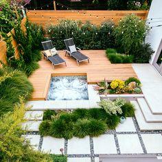 Deck - Beachy Garden Ideas - Sunset
