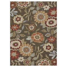 I pinned this Daisy Rug in Brown from the Beverly Rug Company event at Joss and Main!