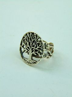 999 pure silver tree of life silver ring handmade PMC roots