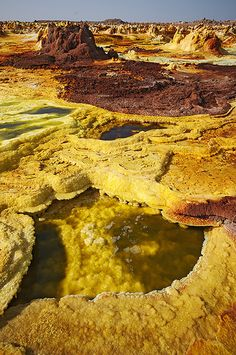 bizarre formations in Dallol