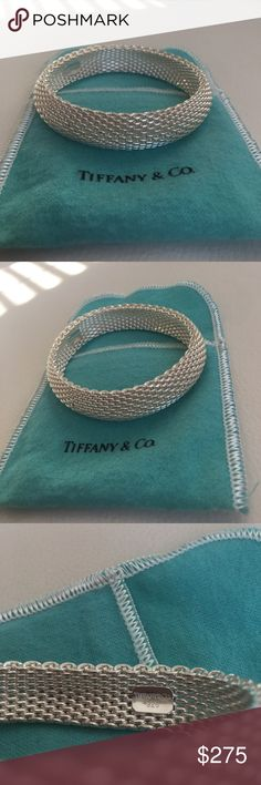 Tiffany & Co. Somerset Bangle NWOT - never worn. Tiffany & co sterling silver somerset mesh bangle. Includes original Tiff & co jewelry pouch. **Reasonable offers always considered  Tiffany & Co. Jewelry Bracelets