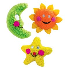 Zanies Smiling Dog Toy ~ Yellow Star 7.5 In Dog Toy