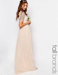 Shop Maya Tall Chiffon Embellished Maxi Dress at ASOS. Chiffon, Bridesmaid Dresses, Wedding Dresses, How To Feel Beautiful, Fashion Online, Ball Gowns, Party Dress, Short Sleeve Dresses, Bridal