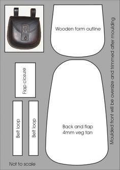 Layout for the moulded possibles pouch – Carteras y pequeñas bolsas – ideas de bolsa Leather Art, Leather Pouch, Leather Design, Leather Tooling, Leather Purses, Leather Handbags, Mk Handbags, Pouch Pattern, Purse Patterns