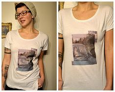 Make your own t-shirt art from magazines, photos or anything else you can think of. #tutorial #fabric #clothes