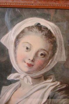 Vintage Lady Portrait in a Vignette